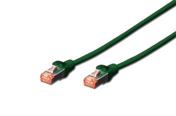 Digitus CAT 6 S-FTP patch cable, Cu, LSZH AWG 27/7, length 7 m, color green