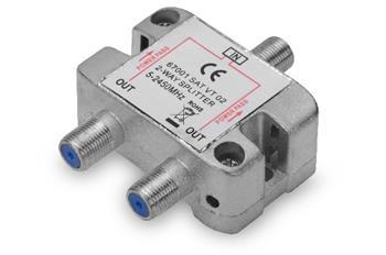 Ednet SAT Splitter, 2-way F-connector F/F/F, CE, Metal