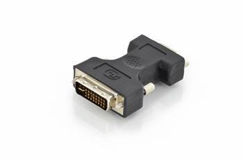 Digitus DVI adapter, DVI(24+5) - HD15 M/F, DVI-I dual link, bl