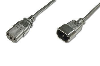 Digitus Prodlužovací napájecí kabel, C14 - C13 M / F, 5,0 m, H05VV-F3G 1,0qmm, sw