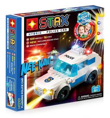 STAX hybrid stavebnice Flashing Police Car - LEGO® - kompatibilní