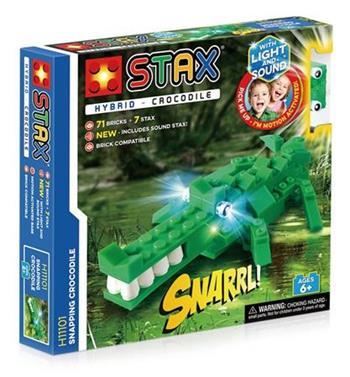 STAX hybrid stavebnice Snapping Crocodile - LEGO® - kompatibilní
