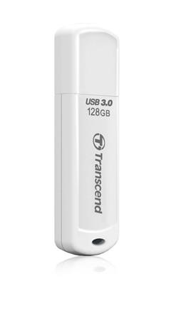 Transcend 128GB JetFlash 730 USB 3.1 flash disk, bílý