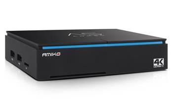 AMIKO android box A5/ 4K Ultra HD/ DVB-S2/T2/C/ H.265/HEVC/ čtečka micro SD/ HDMI/ USB/ LAN/ Wi-Fi/ Android 7.1/ černý