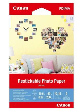 Canon Restickable Photo Paper RP-101 4x6 (5)