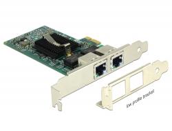Delock PCI Express Karta > 2 x Gigabit LAN