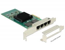 Delock PCI Express Karta > 4 x Gigabit LAN