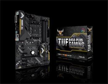 ASUS TUF B450-PLUS GAMING Socket AM4, B450, 4x DDR4, SATA 6Gb/s, HDMI, M.2, USB 3.1 Gen 2, ATX