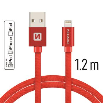 SWISSTEN DATA CABLE USB / LIGHTNING MFi TEXTILE 1,2M SILVER