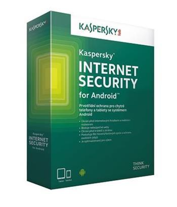 Kaspersky Internet Security for Android CZ, 3 mobily nebo tablet, 1 rok, obnovení licence, elektronicky