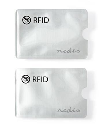 Nedis PRIVRF10AL - ochranné pouzdro bezkontaktních karet, hliník, stříbrná, 2 kusy