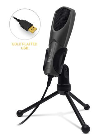 CONNECT IT YouMic mikrofon USB, pozlacený konektor USB, antracit