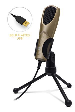 CONNECT IT YouMic mikrofon USB, pozlacený konektor USB, champagne
