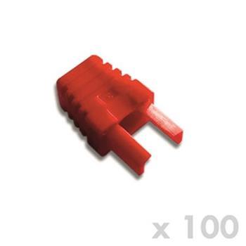 DATACOM Manžetka pro plug RJ45 červená (100ks)