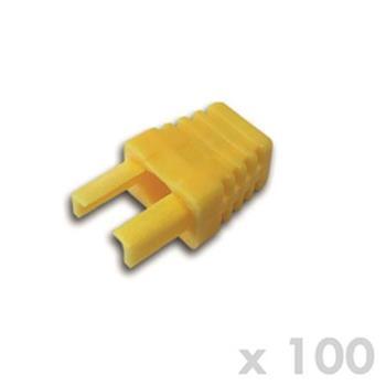 DATACOM Manžetka pro plug RJ45 žlutá (100ks)