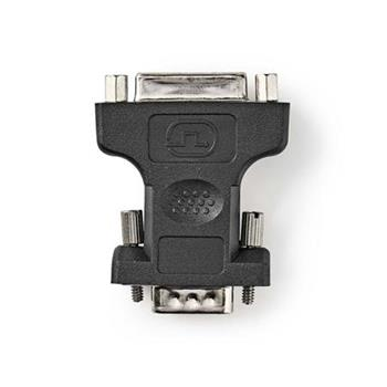 Nedis CCGB32901BK - VGA – DVI Adaptér | VGA Zástrčka - DVI-I 24+5-pin Zásuvka | Černá barva