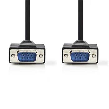 Nedis CCGB59000BK30 - Kabel VGA | VGA Zástrčka - VGA Zástrčka | 3 m | Černá barva