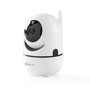 Nedis IPCMPT20CWT - IP Bezpečnostní kamera | 1 920 × 1 080 | Otáčení a Náklon | Automatické Sledování Pohybu | Bílá barva
