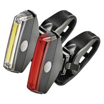 Emos LED cyklosvítilna P3920, 2x 1W COB, SET (přední + zadní)