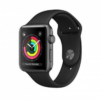 Apple Watch Series 3 38mm vesmírně šedý hliník s černým sportovním řemínkem (2017)