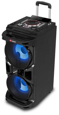 C-TECH IMPRESSIO Tower V2, all-in-one, 90W , přenosný aktávní, karaoke až 4 osoby, nahrávání, MP3,SD,USB,FM,BT,DO