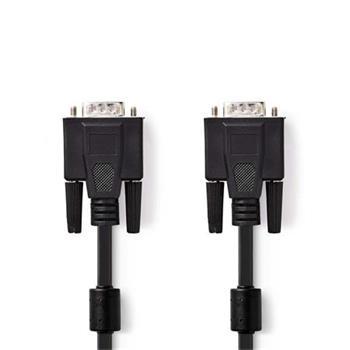 Nedis CCGB59000BK50 - Kabel VGA | VGA Zástrčka - VGA Zástrčka | 5 m | Černá barva