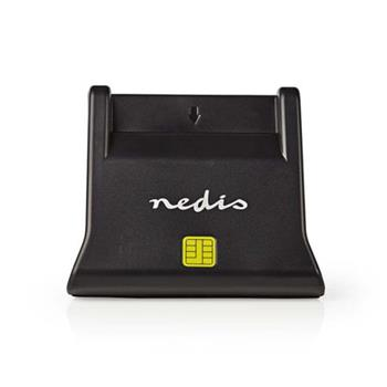 Nedis CRDRU2SM3BK - Smartcard reader | USB 2.0 | Desktop model | Black