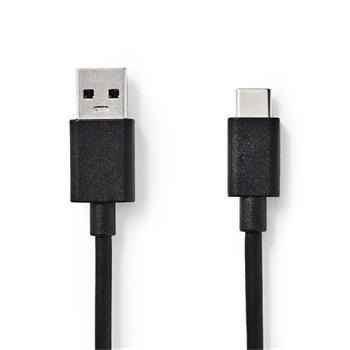 Nedis CCGB61600BK10 - USB 3.1 Kabel | Typ-C Zástrčka - A Zástrčka | 1 m | Černá barva
