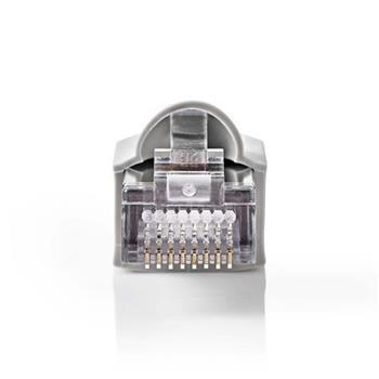 Nedis CCGB89350GY - Sada Síťových Konektorů CAT5 | RJ45 (8P8C) Zástrčka - Krytka Konektoru | 10 kusů | Šedá