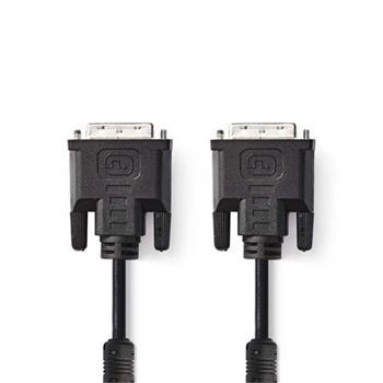 Nedis CCGP32050BK20 - Kabel DVI | DVI-I 24+5-pin Zástrčka - DVI-I 24+5-pin Zástrčka | 2 m | Černá barva