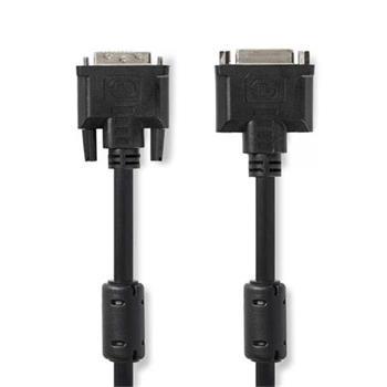 Nedis CCGP32055BK20 - Kabel DVI | DVI-I 24+5-pin Zástrčka - DVI-I 24+5-pin Zásuvka | 2 m | Černá barva