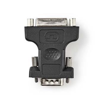 Nedis CCGP32901BK - VGA – DVI Adaptér | VGA zástrčka - DVI-I 24+5-pin Zásuvka | Černá barva
