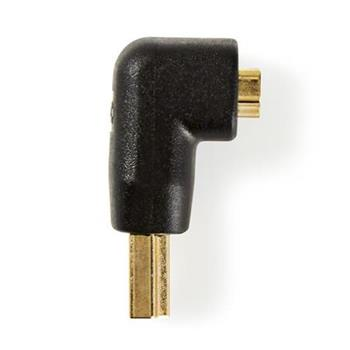Nedis CVGB34901BK - HDMI™ Adaptér Úhlový 90° | HDMI Konektor - HDMI Zásuvka | Černá barva