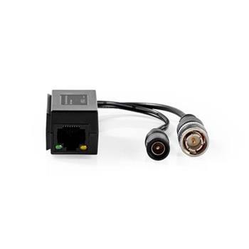Nedis CCTVCON15BK - CCTV Převodník Bezpečnostního Videorekordéru | Full HD – BNC+DC | RJ-45