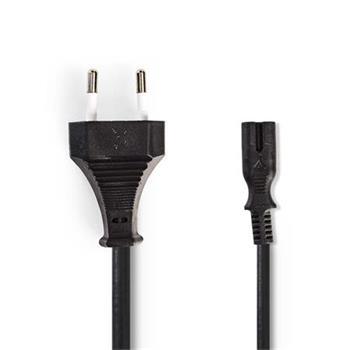 Nedis PCGP11042BK20 - Napájecí Kabel | Euro Zástrčka – IEC-320-C7 | 2 m | Černá barva