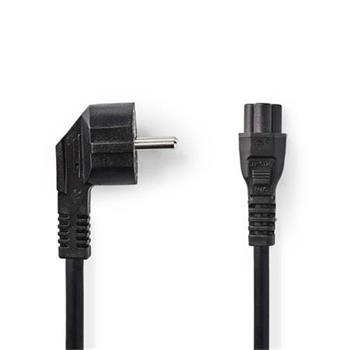 Nedis CEGP10100BK20 - Napájecí Kabel | Úhlová zástrčka Schuko - IEC-320-C5 | 2 m | Černá barva