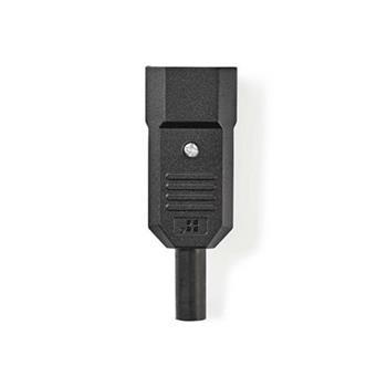 Nedis PPGP11806BK - Napájecí zásuvka | IEC-320-C14 | Černá barva
