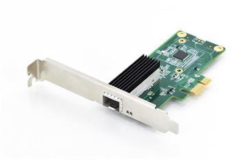 DIGITUS Karta SFP Gigabit Ethernet PCI Express 32-bit, držák s nízkým profilem, čipová sada Intel WGI210Karta SFP Gigabit Ethernet