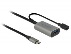 Delock Aktivní prodlužovací kabel USB 3.1 Gen 1 USB Type-C™ na USB Typ-A 5 m