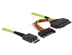 Delock Cable OCuLink PCIe SFF-8611 to U.2 SFF-8639 1 m