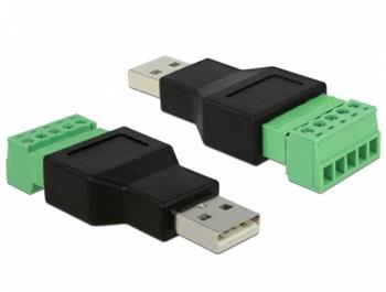 Delock Adaptér USB 2.0 Typ-A samec > svorkovnice 5 pin 2-části