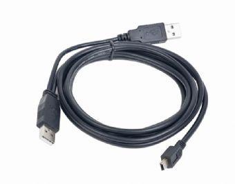 Kabel CABLEXPERT USB A-MINI 5PM 2.0 1m DUÁLNÍ pro extra napájení