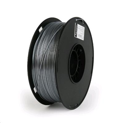 Tisková struna (filament) GEMBIRD, PLA PLUS, 1,75mm, 1kg, stříbrná
