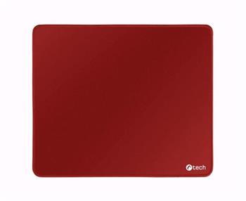 C-TECH podložka pod myš MP-01, červená, 320x270x4mm, obšité okraje