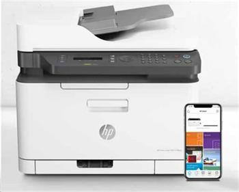 HP Color Laser MFP 179fnw Printer A4,184 ppm, USB 2.0, Ethernet, Wi-Fi,Fax,ADFnáhrada za C480FW