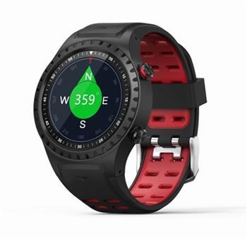 EVOLVEO SportWatch M1S, chytré sportovní hodinky s podporou SIM, červenočerný pásek