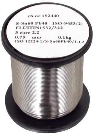 Cookson Electronics pájecí drát 0.75mm, Sn60/Pb40, 500g