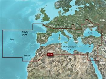 VEU723L - 3D mapa moří jižní Evropy, Bluechart G3 Vision, microSD/SD karta