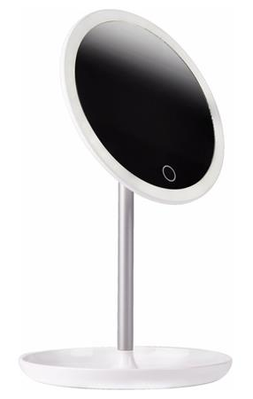 IMMAX kosmetické zrcátko s LED podsvícením Circle/ 4W/ 5V/1A/ 5500-6500K/ kapacita 600mAh/ zvětšení 5x/ bílé