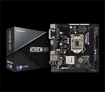 ASROCK MB H310CM-HDV (intel 1151v2 coffee lake, 2x DDR4 2666, GLAN, SATA3, USB3.0, VGA +DVI+HDMI, mATX) pro intel coffe